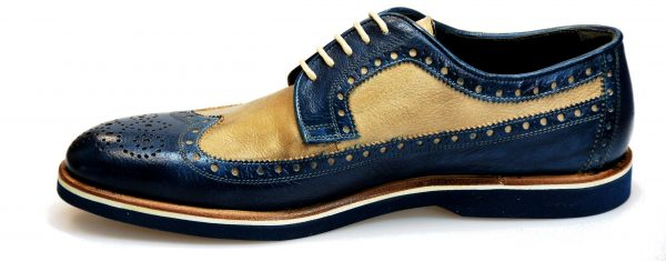 Handmade Italian Men's Dress Shoes. Silver Derby. D'Annunzio. Code SD 136
