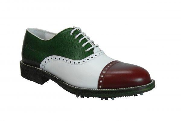 Handmade Italian Shoes Golf - Spikes - Royal - code SG 2884
