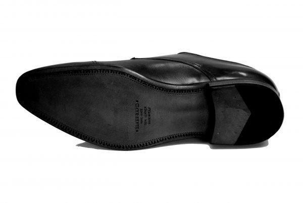 Handmade Italian Men's Dress Shoes. Silver Double-Buckle Monk. Cagli. Code SM 161