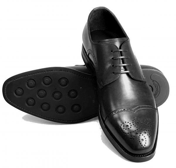 Handmade Italian Men's Dress Shoes. Silver Derby. Ostra. Code SD 160